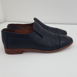 Jeffrey Campbell Barkley black leather loafer sz 7